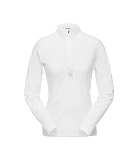 Spyder Women's Shimmer Zip T-Neck Long Sleeve Fleece Pullover for Winter ()