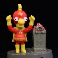 Burger King Simpsons Spooky Light Ups #11 Milhouse (Radioactive Boy) 2001 by Bk]()