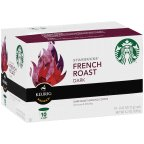Starbucks French Roast K-Cup Portion Pack For Keurig Brewers 10 CT (Pack of 12)