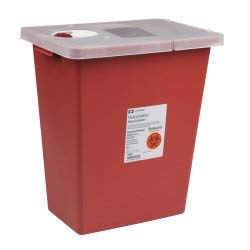 Kendall/Covidien Model#8980 MultiPurpose Sharps Container w/Hinged Lid, 8 Gallon - Case by COVIDIEN