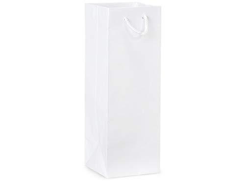 - Gloss Wine Bags 4.5 x 4.5 x 13 12Pack (White)