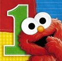 : Sesame Street 1st Birthday Beverage Napkins 16ct