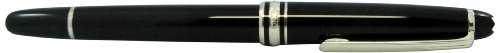 Mont Blanc 163-Meisterstuck Classique Platinum Rollerball Black (2865)