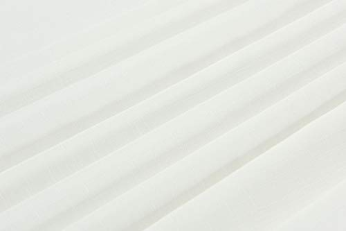 """GoodGram Ultra Luxurious Textured Macrame Trim Fabric Tablecloth Assorted Sizes & Colors - White, 60"""" x 90"""" Rectangle (6-8 Chair) - Whats Included: 1 Tablecloth Assorted Sizes & Colors Heavyweight Macrame Trim **White color may appear Off White/Ivory in certain lighting** - tablecloths, kitchen-dining-room-table-linens, kitchen-dining-room - 21QOywAjFZL -"""