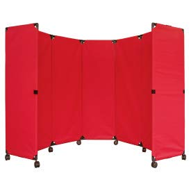 VERSARE MP10 Economical Portable Accordian Partition (Room Dividers Classroom)