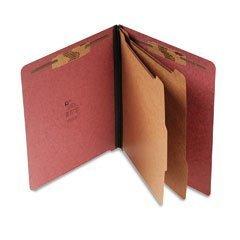 Pressboard End Tab Recyc. Class. Folder, Letter, Red, 6 Sections (SJPS60935) by SJ PAPER