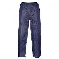 Portwest US441NARS Regular Fit Classic Adult Rain Pants, Small, Navy