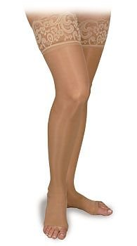 BSN Medical H20204 Activa Stocking, Thigh High, Open Toe, Lace, Size D, 15-20 mmHg, Nude