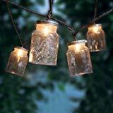 Stylish Mini Jar String Ten Clear Lights