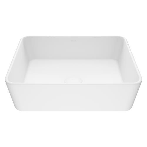Stone Vessel Sink Set - VIGO Marigold Matte Stone Vessel Bathroom Sink
