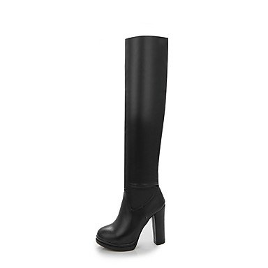 US8 5 Party Boots UK6 White 5 Fall Shoes Women'S Toe CN40 Fashion Evening Black RTRY Spring Boots EU39 The amp;Amp; Over Knee Spandex Round For Boots Wedding c41fwqWBaW