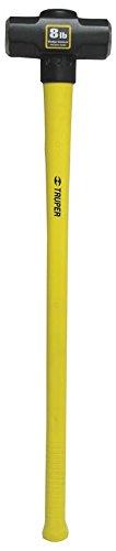 Sledge Pro Handle (Truper 32600 8-Pound Sledge Hammer, Guarded Fiberglass Handle with Rubber Grip, 36-Inch)