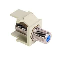Leviton 41084-FIF QuickPort F-Type Adapter, Nickel-Plated, ()