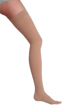 Juzo Dynamic (Varin) 3511 Thigh High 20-30mmHg - Silicone Band (Beige-Regular-4 (IV)-Closed Toe) by Juzo