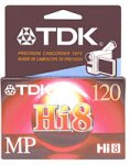 TDK MP120 Hi-8 Video Cassette (Discontinued by Manufacturer) by TDK