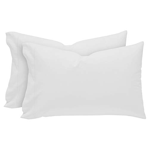 (Rivet Soft 100% Percale Cotton Pillowcase Set, Easy Care, King, White)