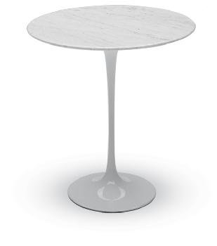 Nuevo Saarinen Style Tulip Round Side Table - White Marble