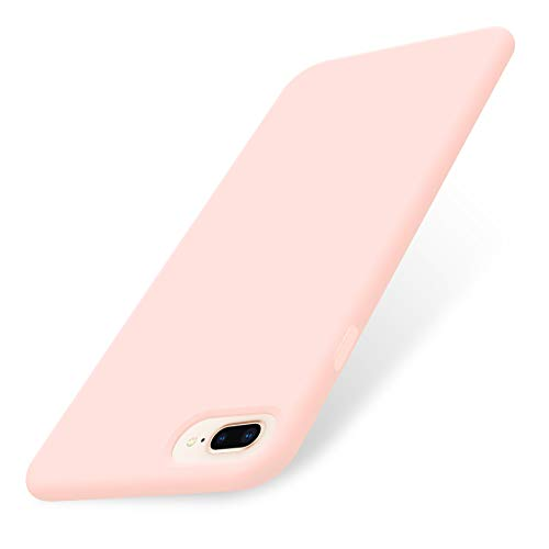 """AOWIN iPhone 8 Plus Case/iPhone 7 Plus Case Liquid Silicone Gel Rubber Phone Cover Soft Cases Compatible with iPhone 7 Plus / 8 Plus 5.5""""- Pink"""