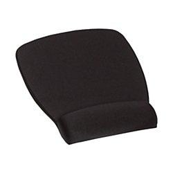 3M Foam Mouse Pad, Wrist Rest, Black, Antimicrobial - Antimicrobial Mouse Pad