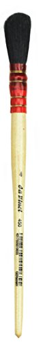 da-vinci-gilding-series-450-gilder-duster-brush-round-oval-black-goat-hair-with-wood-handle-size-4