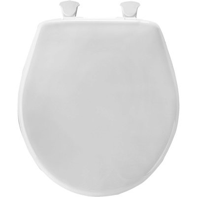 Mayfair Solid Plastic Toilet Seat featuring Easy-Clean & Change Hinges and STA-TITE