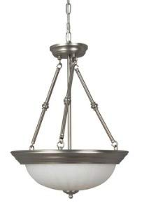Craftmade X125-BN 3 Light Inverted Pendant (Frosted Melon Step Pan)