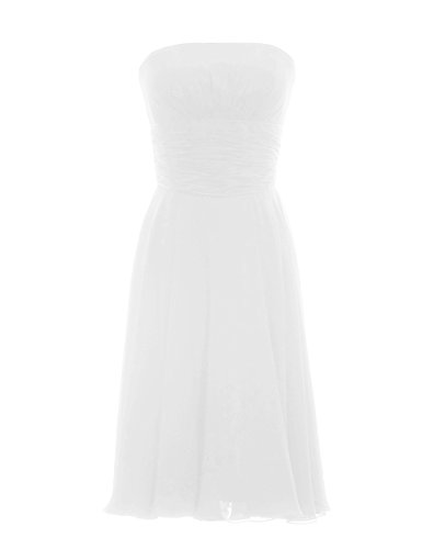 Dressystar Short Strapless Party Prom Gowns Dresses Size 4 Ivory