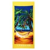 Coco Tree Diagram - 70x150cm Coconut Tree Amorou Feeling Dry Beach Towel Absorbent Microfiber Bath - Palm Meat Cocoanut Cocoa - 1PCs
