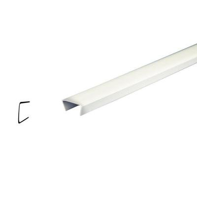 3/8 in. x 3/4 in. x 96 in. PVC Shelf Edging Moulding (Pvc Shelf)
