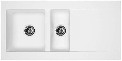 respekta Minero ClimaLite fregadero empotrable fregadero de Denver 100 x 50 color blanco