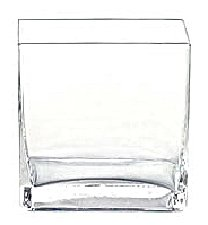 High Quality 6pc Clear Square Glass Vase Vases   Cube   5 Inch   6u0026quot; ...