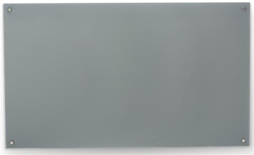 Displays2go, Tempered Glass Markerboards, Magnet Receptive, Frameless Design, – Gray Finish (GB3660SGY) (Glass Markerboard)