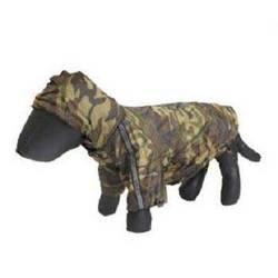 Pet Life Reflecta Sport Rainbreaker Dog Raincoat, Camouflage, Small