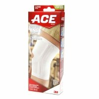 Ace Knitted Knee Brace with Side Stabilizers, Model 207355, Large, 1 ea - 2pc