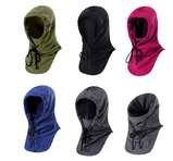 Double Layer Fleece Mask Balaclava Winter Facemask Neck Warmer Multipurpose Scarf