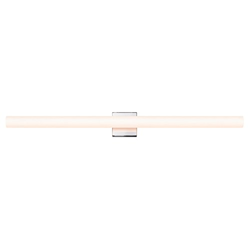 Sonneman Lighting 2433.01-FT Tubo Slim - 4.25'' 26W LED Bath Bar, Polished Chrome Finish with Etched White Glass by Sonneman