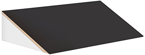 Salsbury Industries 33354BLK 36-Inch Wide Sloping Hood for 21-Inch Deep Designer Wood Locker, - Wide Wood Hood