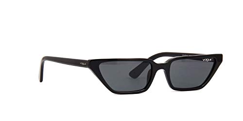- VOGUE Women's Plastic Woman Sunglass Cateye, Black, 53.0 mm