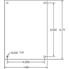 Vynckier Mp806a Vj 8'' X 6'' Aluminum Mounting Plate - Min Qty 14, (Pack of 5) (MP806A)