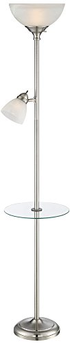 London Torchiere Floor Lamp with Table and Reading (Uplight Table Torchiere Lamp)