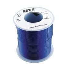 NTE ELECTRONICS WH20-06-100 HOOK-UP WIRE, 100FT, 20AWG, CU, BLUE by NTE