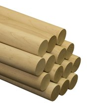 "10 Pcs, 2"" X 36"" Maple Wood Dowels Hardwood"