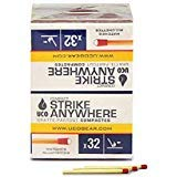 UCO Compact Strike Anywhere Stormproof Matches 10 Boxes/32 Matches Per Box
