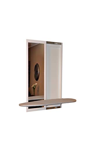 Slide-Away Wall Mounted Ironing Board with Mirror Door