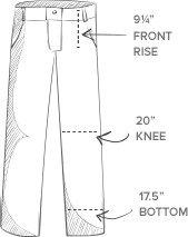 The Fine Swine Men's Bill's Khakis Original Twill M2 Pleated Pants 42 British khaki by The Fine Swine (Image #1)