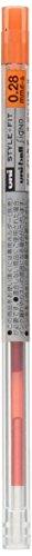 Uni StyleFit Gel Ballpoint Pen Refill, 0.28mm, Mandarin Orange (UMR10928.38)