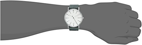 Skagen-Mens-Signatur-Quartz-Stainless-Steel-Casual-Watch-ColorGreen-Model-SKW6377