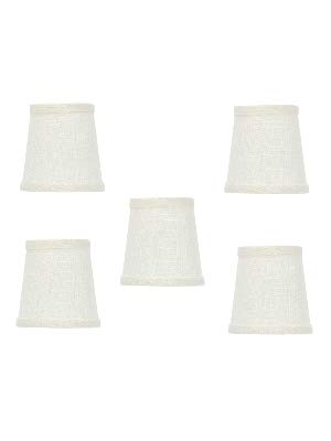 Upgradelights White Linen 4 Inch Mini Clip On Chandelier
