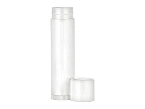 Nakpunar 20 pcs 0.5 oz Large White Lip Balm Tubes with cap - FDA Approved, BPA Free, MADE IN USA - 15 ml 1/2 oz