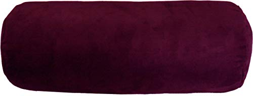 "D&D Futon Furniture. Decorative Sofa Bolster, Neck Round Pillow w/Insert 9"" Diameter x 20"" Long, Leg Arm Body Resting, Supporting Cushion. (Bolster 9 x 20, Wine (Burgundy))"